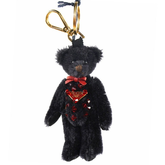 Prada Handbags - Prada Mohair and Swarovski Crystals Bag Charm Bear